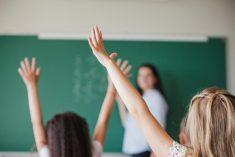 Photo enfants dans une classe