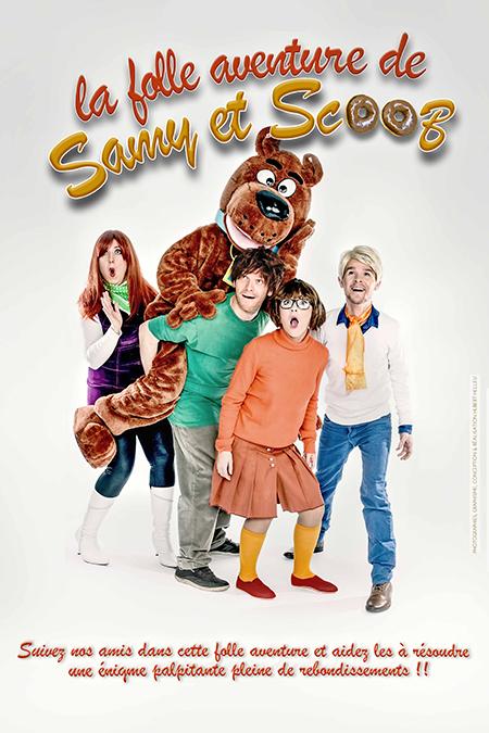 affiche les folles aventures SAMY & SCOOB 40x60