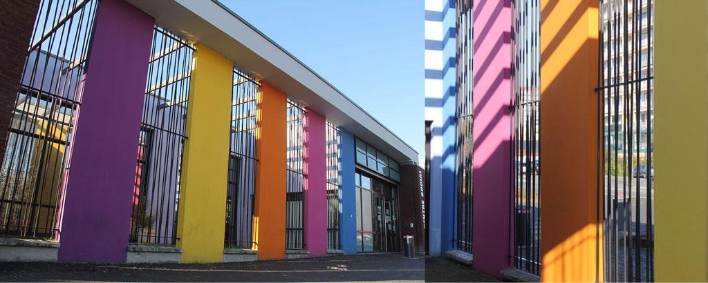 Détail du Centre Social 3 Villes, avenue du Docteur Schweitzer