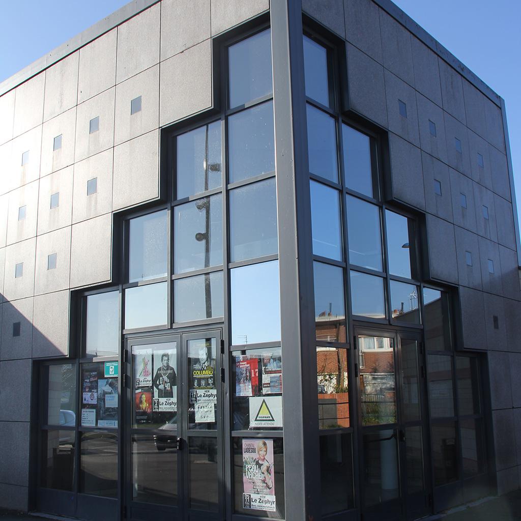 Entrée de la Salle Dunant, avenue Henri Dunant