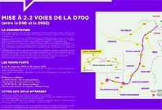 Réunion publique sur la D700