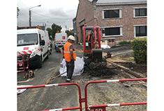 Rétablisssement du réseau d'eau rue des Trois Baudets