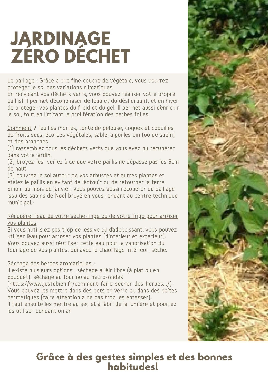 Fiche astuce Zéro déchet jardinage