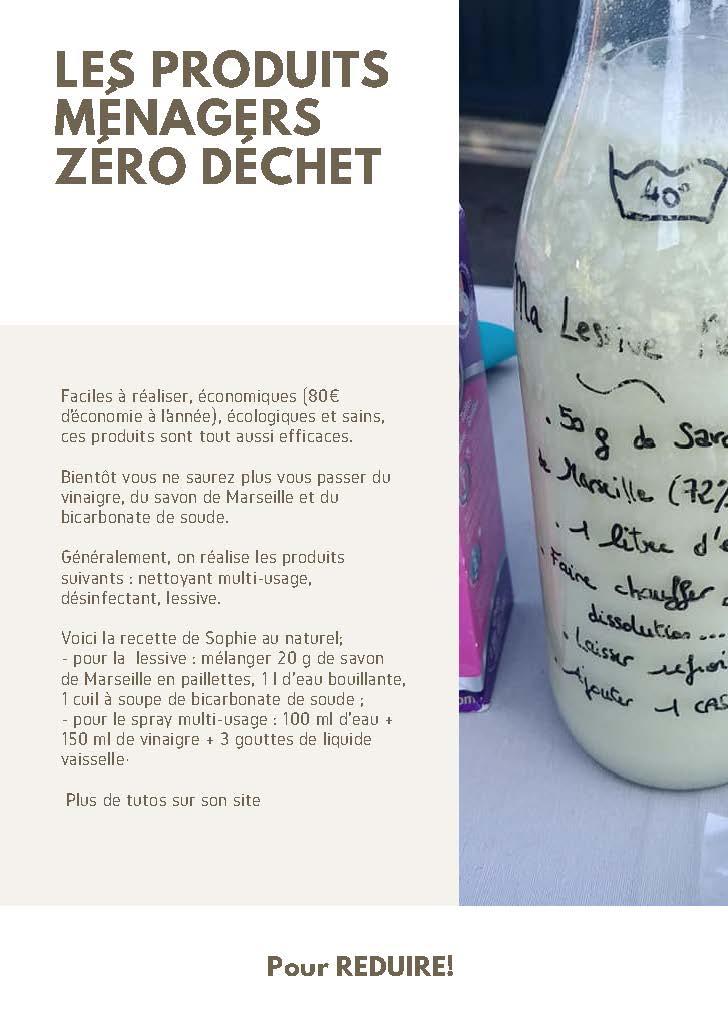 Fiche astuce Zéro déchet Produits ménagers